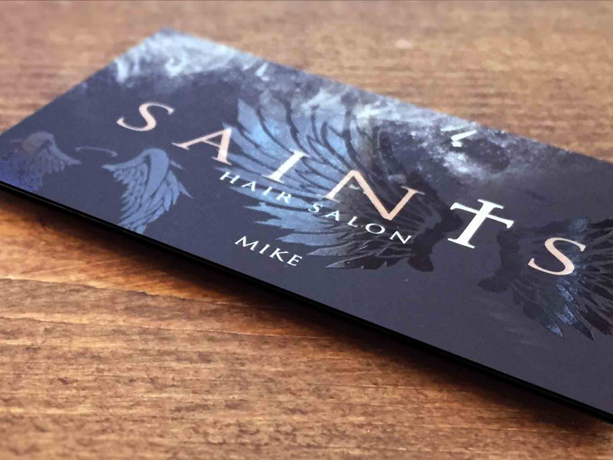 Saints Hair Salon Wolverhampton Business Card Design Print